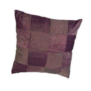 pillow set patchwork purple