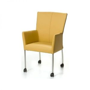 chair on wheels. xl design dining chair with armrests on wheels
