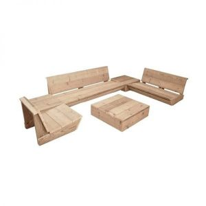 Club scaffolding wooden lounge set