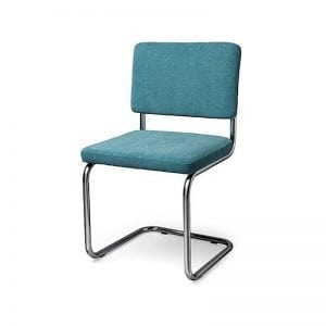 Easy design retro chair in rib fabric