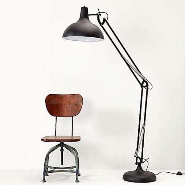 office xl vloerlamp zwart sfeer
