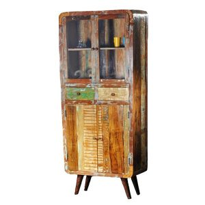 Apollo Retro vintage glass cabinet
