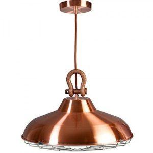 Industry industriële hanglamp koper