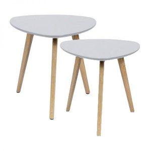 Oaky side table set retro sixties