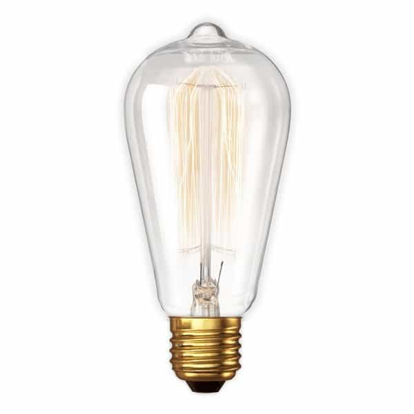 Filament rustieke kooldraadlamp Retro Edison lamp 60 Watt