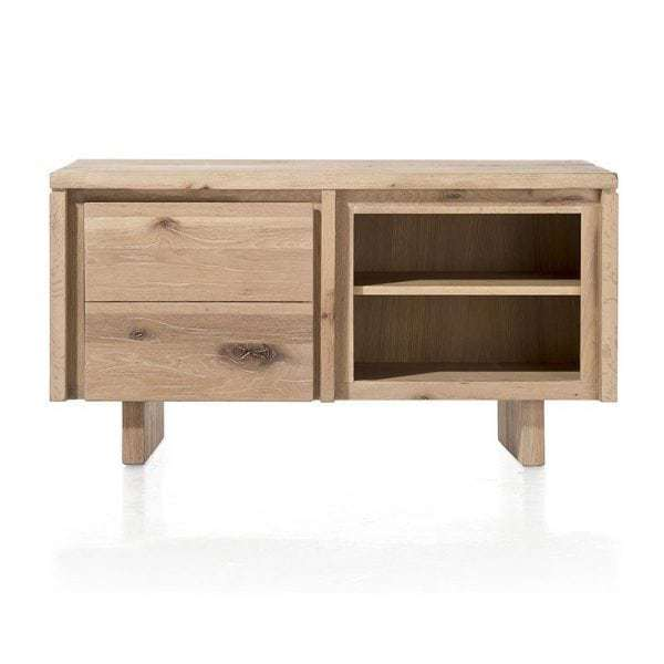 masters lowboard niedriges sideboard eiche massiv tv schrank 140 cm. Black Bedroom Furniture Sets. Home Design Ideas