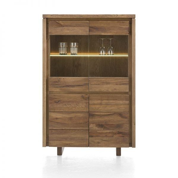 Masters Solid Oak Highboard Slim Cabinet