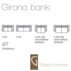 Girona design zitbank zitmeubel