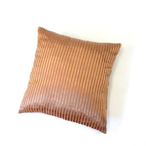 Pillow set orange striped with brown