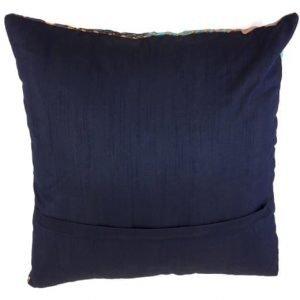 Pillow set blue green patchwork