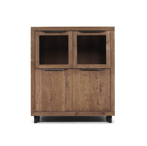 Montreal Industrial Solid Oak Highboard