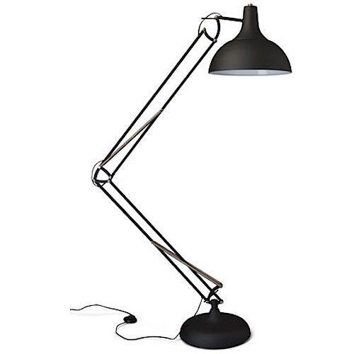 Office XL vloerlamp metaal zwart of wit