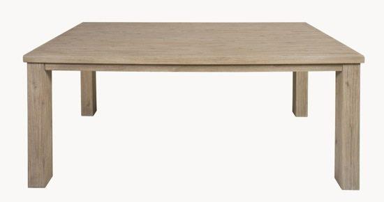 Stresa acacia truffle dining table