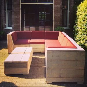 Club steigerhouten Lounge bank