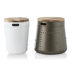 Youniq Stool box bijzettafel set grijs en wit
