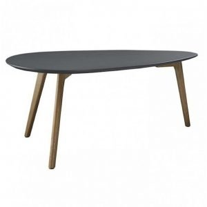 Oaky table retro sixties white or gray