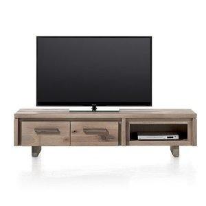 Masters TV kast / laag dressoir 2 klepdeuren 1 niche 160 cm