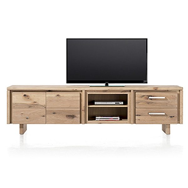 masters massief eiken lowboard tv meubel 240 cm. Black Bedroom Furniture Sets. Home Design Ideas