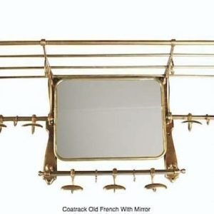 Old French coat rack with mirror by Eichholtz
