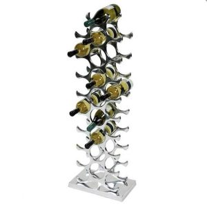 Aluminum wine rack for 27 bottles by Eichholtz