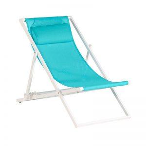 beach chair white aluminum by Exotan