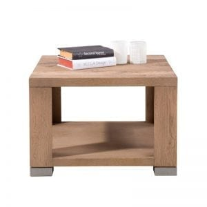 Patagonia castle oak finish side table
