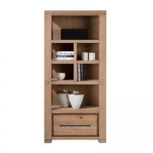Patagonia castle oak finish bookcase