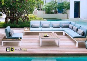 Pebble beach loungeset loungehoek tuin