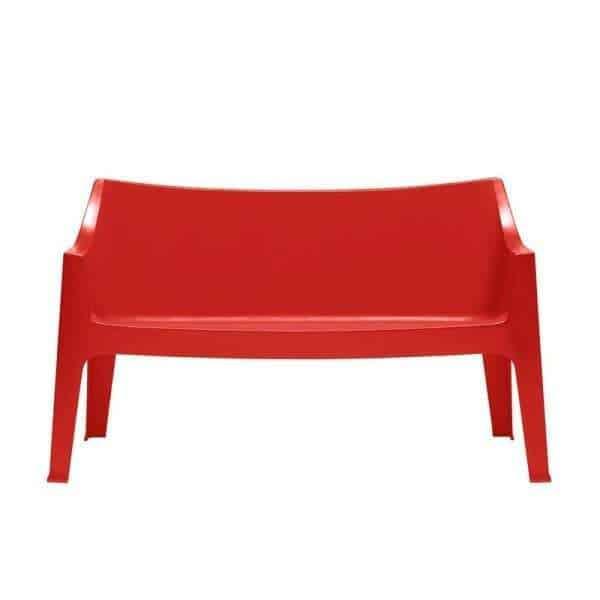 Coccolona divano bank sofa tuinbank scab design rood