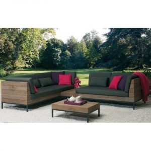Long Island Loungeset applebee teak All Weather BeeWett® kussens