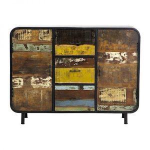 Lotte kleurrijk industrieel dressoir 120 cm