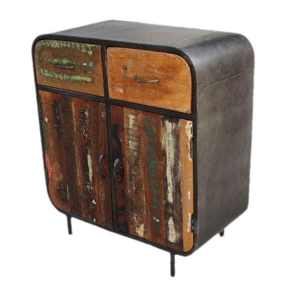 Lotte kleurrijke industriële meidenkast metaal/gerecycled hout