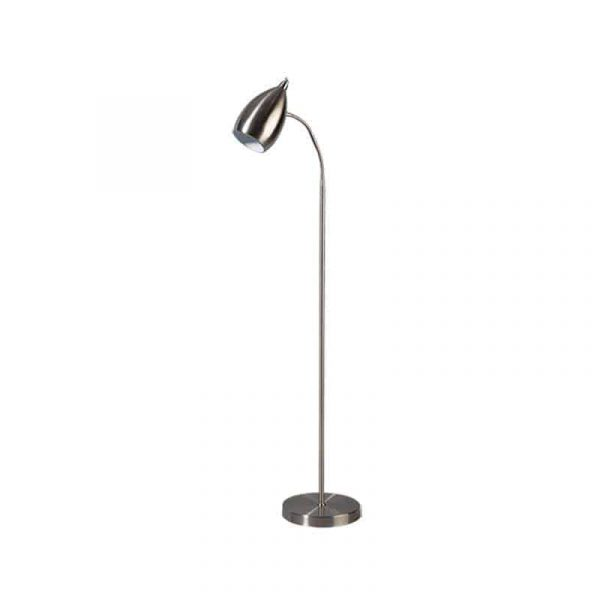 Ajaccio retro floor lamp reading lamp brushed stainless steel aloadofball Images