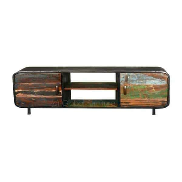 Industriele Tv Dressoir.Lotte Kleurrijke Industriele Tv Kast 160 Cm Global Furniture Webshop