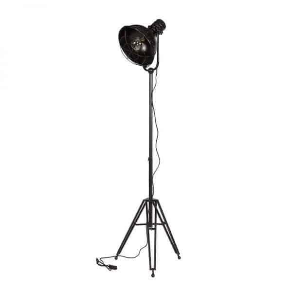 Spotlight stoere vloerlamp mat zwart BePureHome