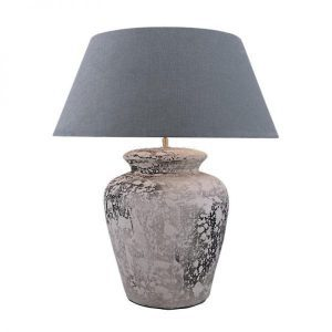 Bora Ceramic Table Lamp with Shade Grey