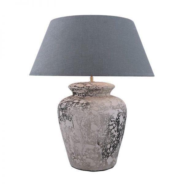 Bora Ceramic Table Lamp with Shade Grey