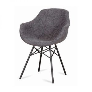 Busc design dining chair Eiffel metal legs in fabric from DYYK