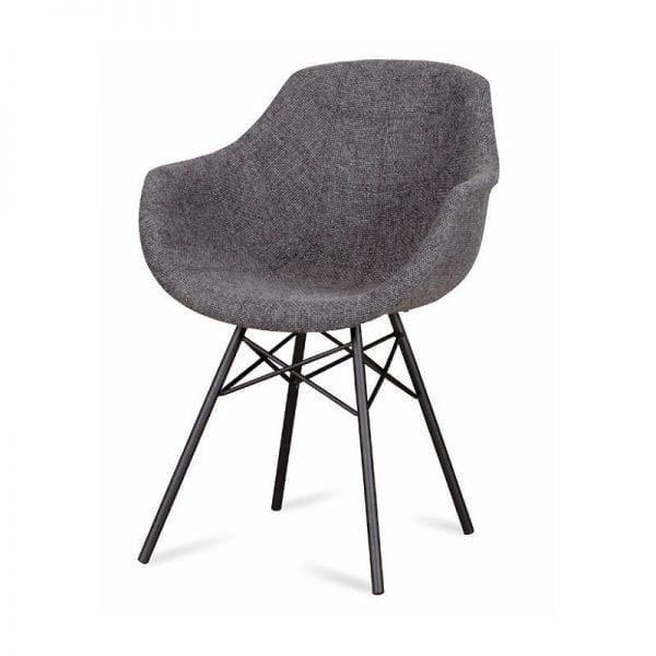 Busc kuipstoel spinpoot stof van DYYK - Global Furniture Webshop