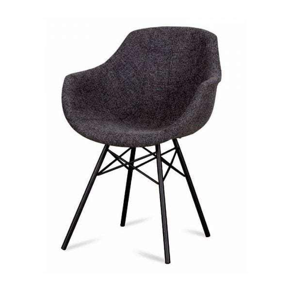 busc kuipstoel spinpoot stof van dyyk global furniture