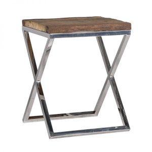 9851 Kensington side table old wood 45 x 45 cm Nickel Richmond