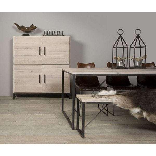 White Wash Eiken Meubels.Evia Massief Eiken Bergkast White Wash Showroom Global Furniture