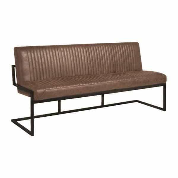 Ferro Industrielles Esszimmer Sofa In Vintage Mikrofaser Stoff