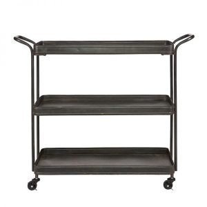 Tea Trolley vintage metal black from BePureHome