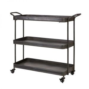 Tea Trolley vintage metal black from BePureHome corner