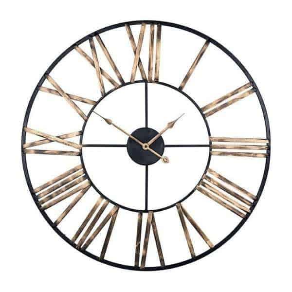 Anne KK0030 zwart-goud wandklok - klok van Richmond