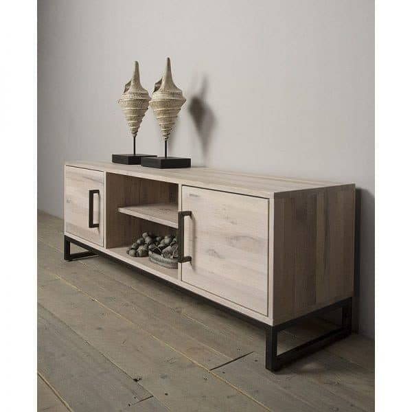tv kast. evia solid oak tv cabinet whitewash with metal legs ambiance tv kast