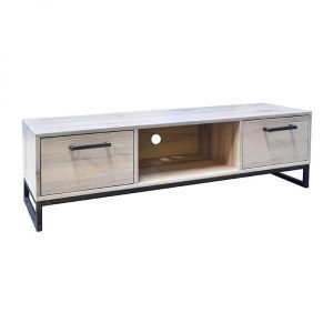 Evia massief eiken Tv kast white wash