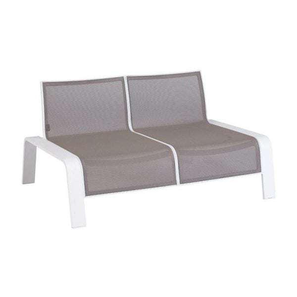 Ezee 2 Sitz Lounge Bank Weiß ...