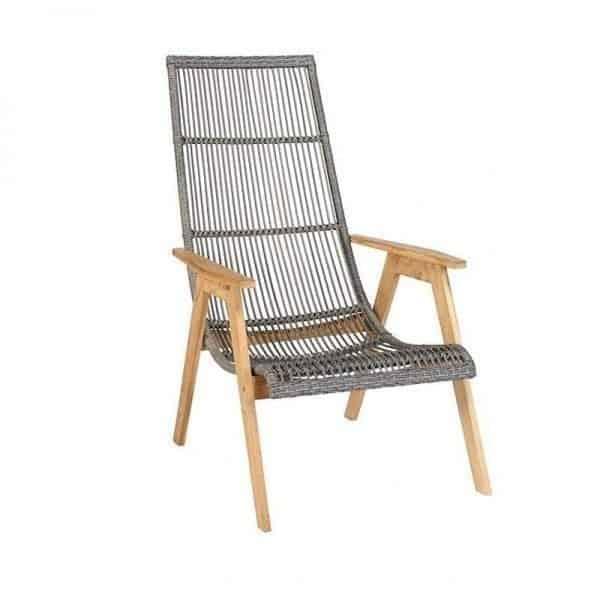 Exotan mabel retro tuin lounge stoel met armleuning for Intratuin tuinstoelen